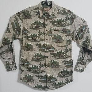 Vintage Woolrich Men's Med Button Up Hunting Shirt
